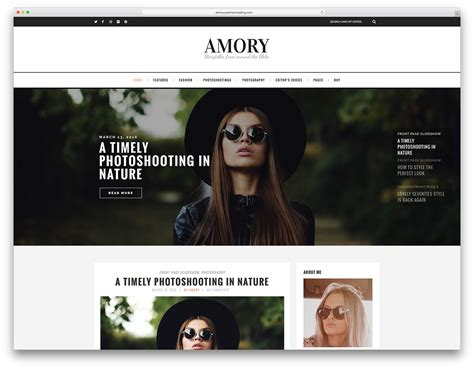 43 Best Fashion Blog Magazine Wordpress Themes 2018 Colorlib Clothing Brand Website Template