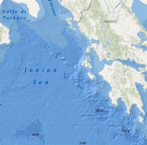 ionian sea map the ionian sea greekvoyager