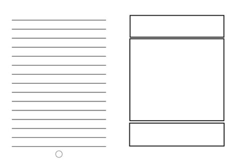 templates for writing children s books blank template children to create their own book by