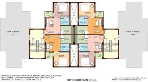 top floor plans bengal greenfield ambition new town rajarhat kolkata