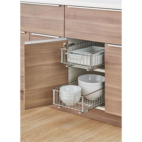 Wire Drawers For Kitchen Cabinets by Trinity Ecostorage 11 5 In W X 17 75 In D X 6 25 In H