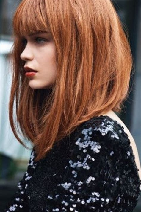 image result for blunt bangs and balayage coiffure coiffures m 232 ches et beaut 233 coupe de cheveux femme carr 233 plongeant