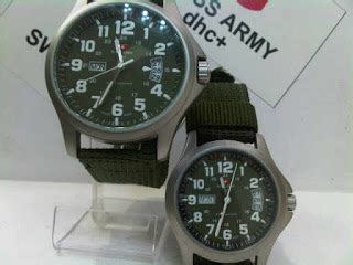 Jam Tangan Swiss Army 2 Waktu jam tangan swiss army 7702 canvas army original