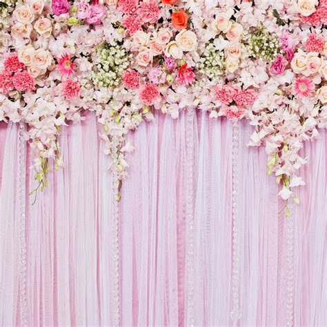 Wedding Backdrop Fabric by Pink Flower Backdrop Wedding Floral