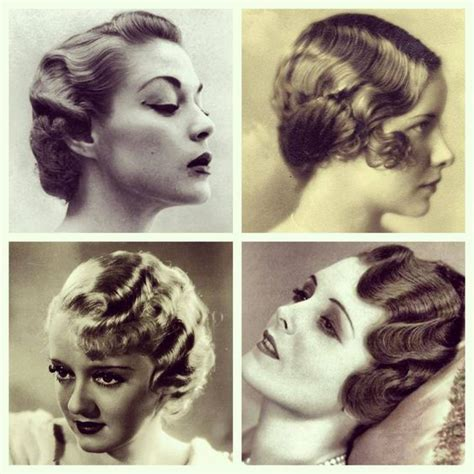 vintage finger wave hairstyles finger waves classic style pinterest style classic