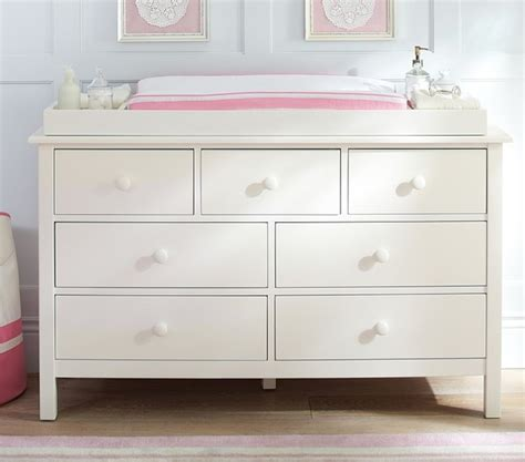 Change Table Dresser Kendall Wide Dresser Changing Table Topper Changing Tables Other Metro By Pottery