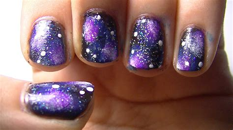 tutorial nail art galaxy galaxy nail art tutorial youtube