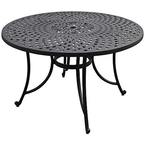 sedona large charcoal black outdoor dining table