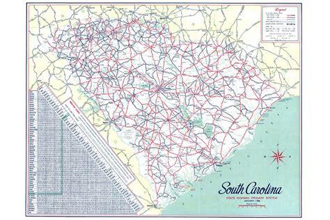 south carolina map scdot historical maps scdot 100