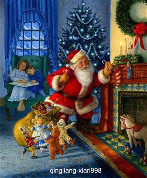 imagenes de santa claus trackid sp 006 art portrait oil painting christmas santa claus