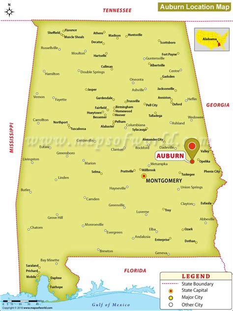 united states map auburn alabama where is auburn alabama