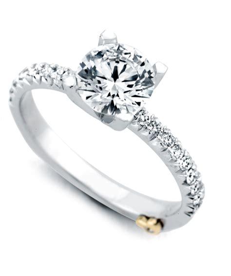 dapper traditional engagement ring schneider design