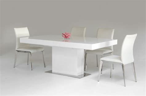durham modern white lacquer extendable dining table