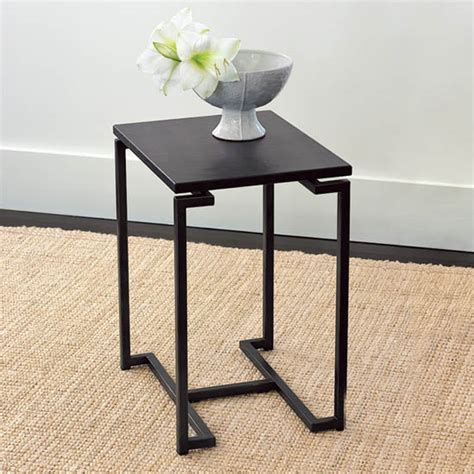 of the day west elm faux shagreen side table
