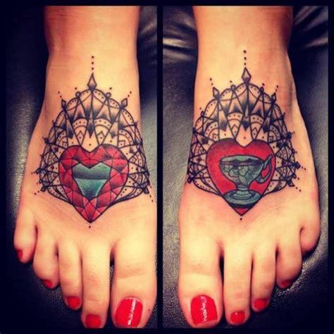 Tattoo Old School Geometric | old school foot geometric tattoo by sarah b bolen