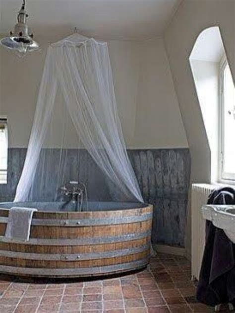 barrel bathtub wine barrel tub real estate pinterest
