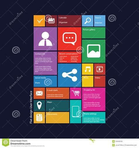 Grafische Bilder by Flat Design Graphic User Interface Royalty Free Stock