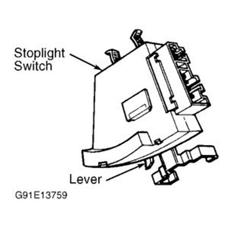 1994 gmc trouble with brake light switch