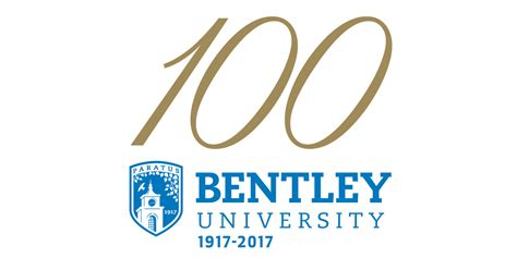 bentley college logo centennial celebration bentley university