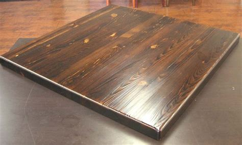 Rustic Distressed Pine Wood Restaurant Tabletops Hardwood Table Tops