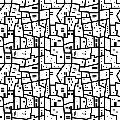 city pattern photography landscape with city blocks black and white abstract