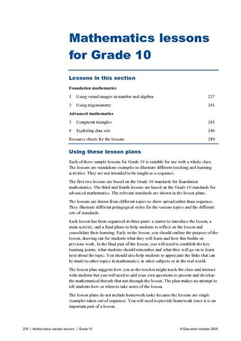 4th grade math lesson plans for teachers lesson plans
