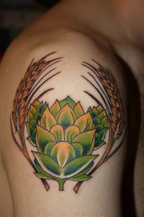 get ink tattoo 16 best hops and barley images on