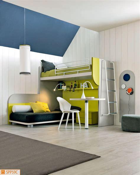 camerette letto cameretta a ponte angolare con letto