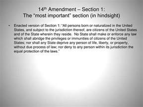 section 1 of the 14th amendment ppt constitutional law professor chesney class 19 legal