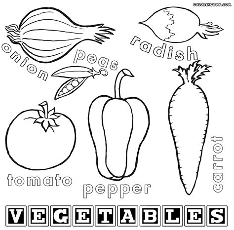 coloring book pages of vegetables vegetables coloring pages coloring pages to and