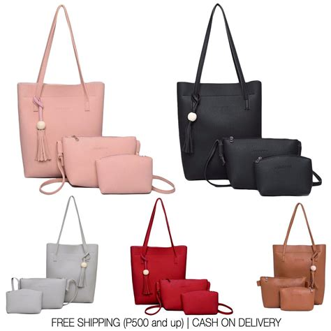 Which It Bag Are You 3 by 3 In 1 Bag Set Korean Bag Jingpin Leather Tote Shoulder