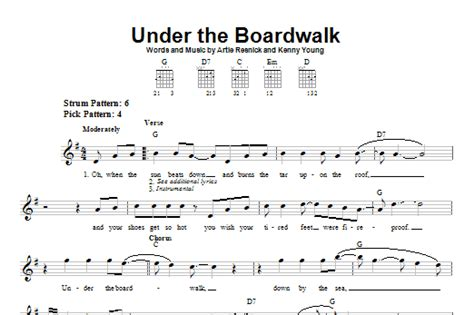 printable lyrics to under the boardwalk under the boardwalk sheet music by bette midler easy