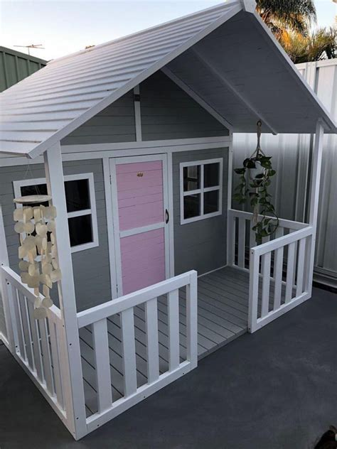 pin  wooden cubby house play house