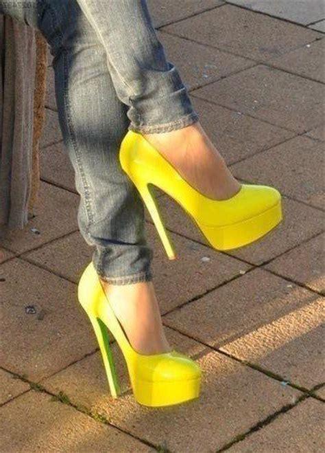 neon color high heels best 25 yellow pumps ideas on yellow heels