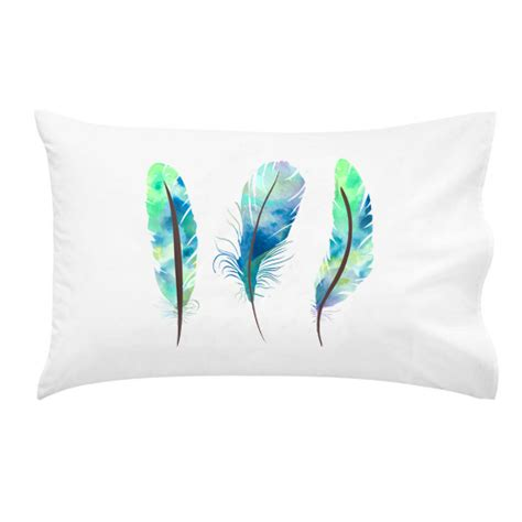 Feathers For Pillows by Australian Made Custom Personalised Water Colour Feathers
