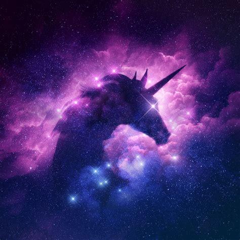 galaxy unicorn silouette wall mural wallsu