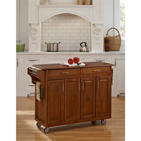 home styles create a cart warm oak kitchen cart with home styles create a cart warm oak kitchen cart with towel