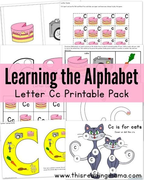 printable alphabet list learning the alphabet letter c printable pack the