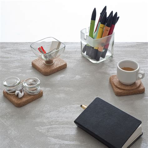Glass Desk Accessories Handy Cork Glass Desk Accessories By Lucirmas