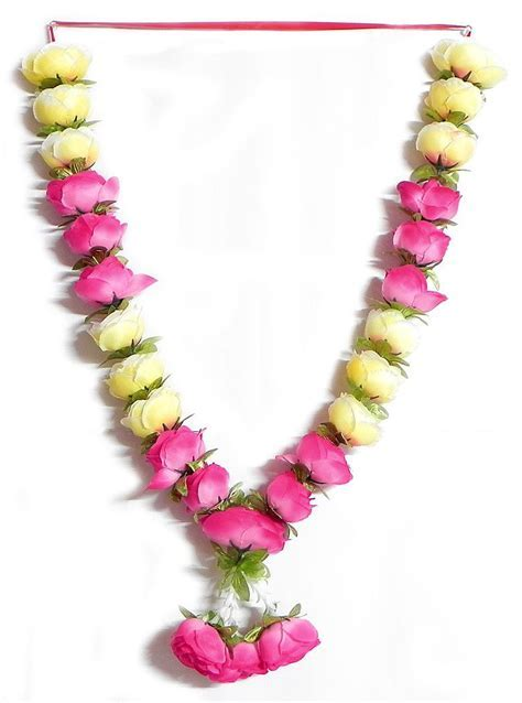 Pink and Light Yellow Rose Garland in 2019   Garlands and