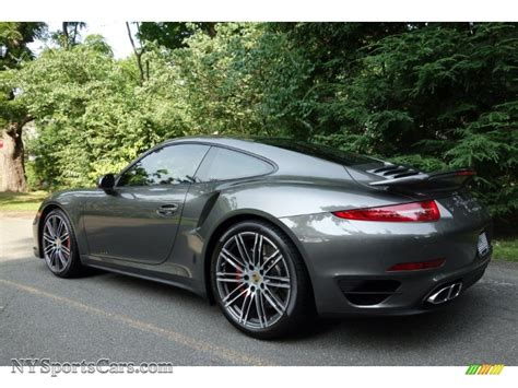 porsche agate grey 2015 porsche 911 turbo coupe in agate grey metallic photo