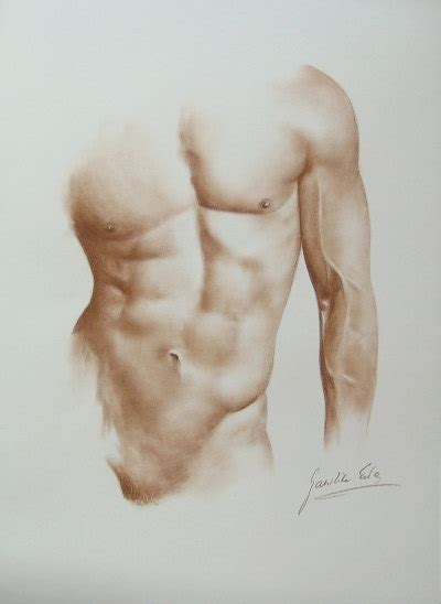 Handmade Male Nude Drawing X By Ewa Gawlik By Ewagawlik