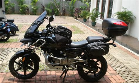 Stiker Box Motor Touring touring the java country side on pulsar 220 dualsport