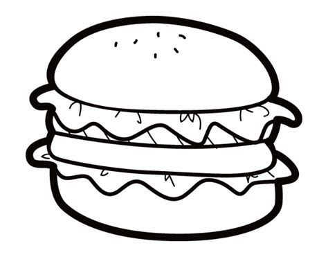 chicken sandwich coloring page coloriage de hamburger avec salade pour colorier
