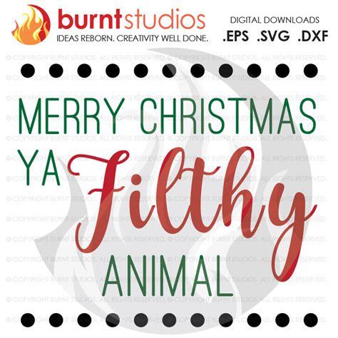 digital file merry christmas  filthy animal home