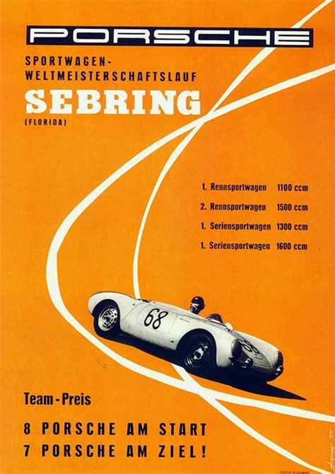 porsche poster vintage porsche sebring vintage racing poster free vintage posters