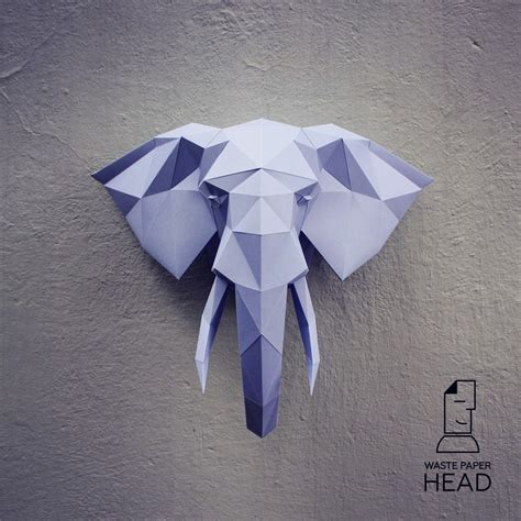 Paper Craft Elephant - papercraft elephant 2 printable diy template