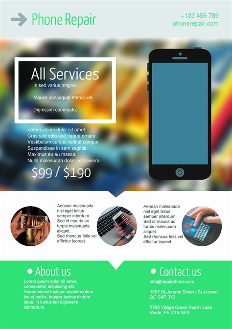 mobile phone package mobile phone service a5 promotional flyer http