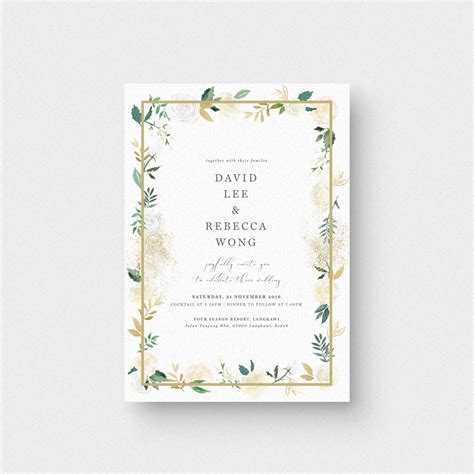 audrea floral ii invitation card the paperpapers wedding invitation malaysia