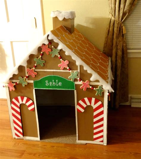 diy pet gingerbread box house petdiys com